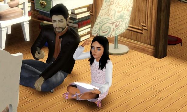 Stefano Helping Tara With Homework 1 (Medium)