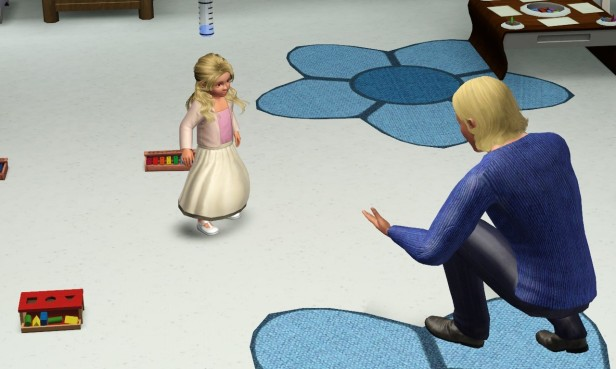 Tyrone Teaching Aurora to Walk (Medium)