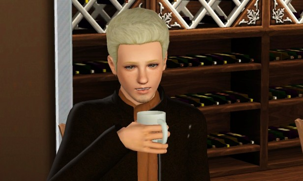 Cian Drinking Coffee 3 (Medium)