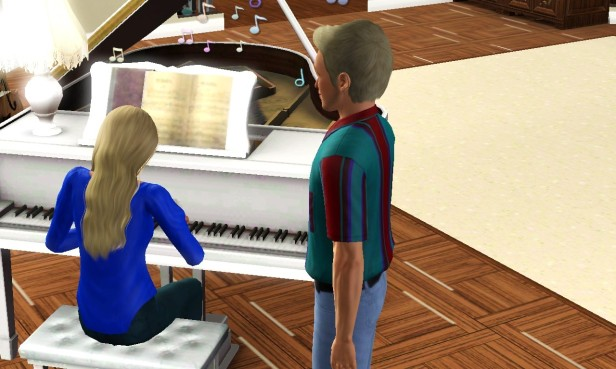 Cian Watching Theresa Play Piano (Medium)